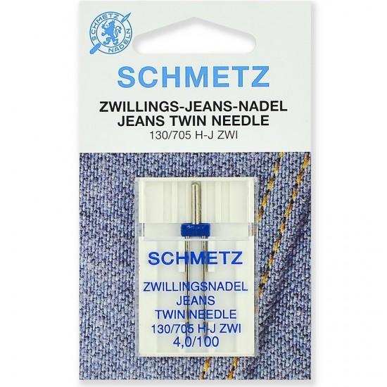 Schmetz Twin Jeans №100/4.0