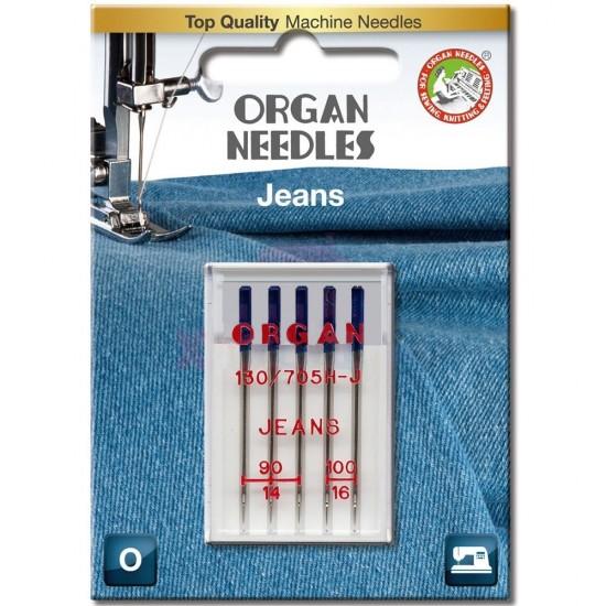 Иглы для джинса Organ Jeans №90-100