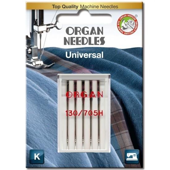 Иглы универсальные Organ Universal №100