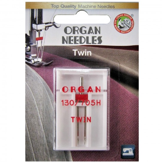 Игла двойная универсальная Organ Twin №90/4.0