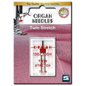 Игла двойная стрейч Organ Twin Stretch №75/4.0 фото 1