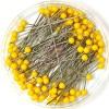 Булавки портновские Prym 028485 c пластиковыми головками желтые фото 3436