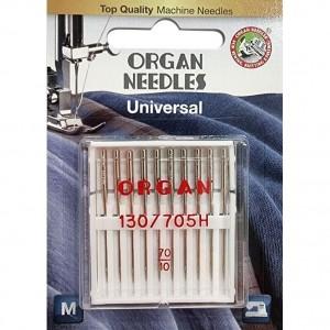 Иглы универсальные Organ Universal №70 10 штук фото 1