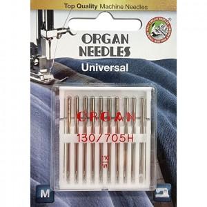 Иглы универсальные Organ Universal №110 10 штук фото 1