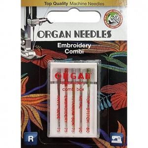 Иглы для вышивки Organ Embroidery Combi-Box 5 штук фото 1