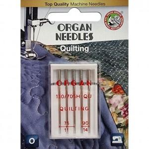 Иглы для квилтинга Organ H-QU Quilting №75-90 5 штук фото 1
